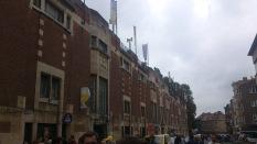La façade du stade Joseph Marien, monument classé par la Région Bruxelles-Capitale